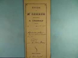 Acte Notarié 1898 Adjudication Publique à La Requête De Cornil-Rassart De Baileux à Coulonval De Baileux /02/ - Manuscrits