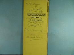 Acte Notarié 1875 Vente De Baudart De Ixelles à Coulonval De Vaulx /03/ - Manuscrits