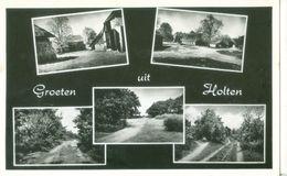 Holten 1965; Groeten Uit Holten, Meer-luik - Gelopen. (Foka - Den Haag) - Holten