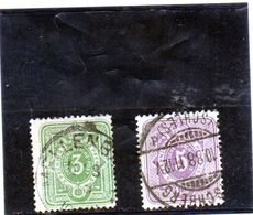 B - 1880 Germania - Cifra In Ovale - Usados