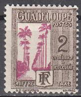 GUADELOUPE     SCOTT NO.  J25     MINT HINGED      YEAR  1928 - Guadeloupe (1884-1947)