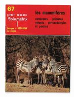 Livret Educatif Volumétrix N°67 Complet Les Mammifères Carnivores Primates Cétacés Périssodactyles Et Porcins - Bücher, Zeitschriften, Comics