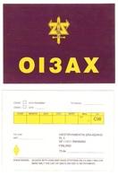 QSL -card - The FINNISH ARMY - THE SIGNAL REGIMENT - OI3AX - - Radio Amateur