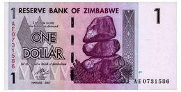 ZIMBABWE 1 DOLLAR 2007 Pick 65 Unc - Simbabwe