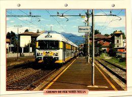 GARE DE BINARIO / NORD DE MILAN   +  19 Fiches Techniques De Locomotive,LOT 8 / - Trains