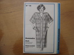 Patron Patroon ROBE POUR RONDES 1985 Femmes D'aujourd'hui 18 MODE Vintage - Patrons