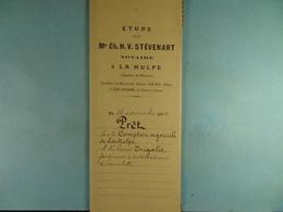 Acte Notarié 1904 Prêt Par Le Comptoir Agricole De La Hulpe à Trigalet De Limelette /04/ - Manuscrits