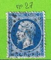 YT N°22 OBLIT ETOILE DE PARIS N°27 - 1849-1876: Classic Period
