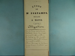 Acte Notarié 1889 Obligation Par Evrard De Limelette à Goossens-Clerfayt De Wavre /05/ - Manuscrits