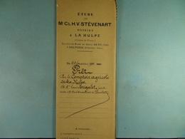 Acte Notarié 1911 Prêt Par Le Comptoir Agricole De La Hulpe à Trigalet De Limelette /06/ - Manuscrits