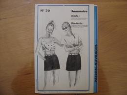 Patron Patroon JUPE MINI SHORT 1985 Femmes D'aujourd'hui 30 MODE Vintage - Patrons