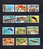 Kenia    1976-77  .-   Y&T  Nº   54/55-57-58-62-66-67-74-82-86/87-90    (   74  Falta Punta  ) - Kenia (1963-...)
