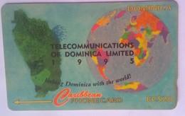 10CDMH EC$20 1995,  Map - Dominica