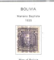 Bolivia PO 1935 Battista Mariano   Scott.218+See Scans On Scott.Page - Bolivia