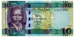 SOUTH SUDAN 10 POUNDS 2015 Pick 12a Unc - Zimbabwe