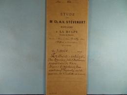 Acte Notarié 1899 Prêt Par Dechamps De Wavre à Everard De Limelette /07/ - Manuscrits