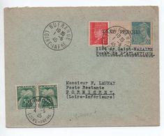 ILOT DE SAINT NAZAIRE / POCHE DE L'ATLANTIQUE - 1945 - ENVELOPPE De GUERANDE (LOIRE ATLANTIQUE) Avec TAXE De PORNICHET - Marcophilie (Lettres)