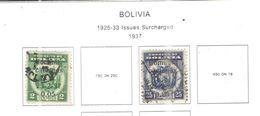 Bolivia PO 1937 Surch.   Scott.233+234+See Scans On Scott.Page - Bolivia