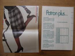 Patron Plus Patroon JUPE PORTEFEUILLE 48 MODE Vintage FASHION - Patrons