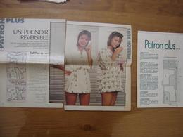 Patron Plus Patroon PEIGNOIR REVERSIBLE 52 MODE Vintage FASHION - Patterns