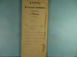 Acte Notarié 1880 Prêt Par Goossens De Wavre à Evrard De Limelette  /08/ - Manuscrits