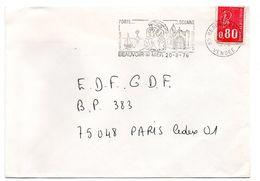 VENDÉE - Dépt N° 85 = BEAUVOIR Sur MER 1976 = FLAMME Type II = SECAP Illustrée D'un Couple En COSTUME' Ostreiculture ' - Moulins