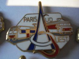 TRAIN PARIS SUD OUEST BLANC Pin's BALLARD - TGV