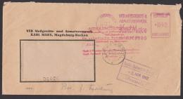 ZKD-Brief AFS Magdeburg Messgeraete U. Armaturenwerk Karl Marx ,roter Aufbewahrungsstempel Doppel-Bf 1960 - [6] Oost-Duitsland