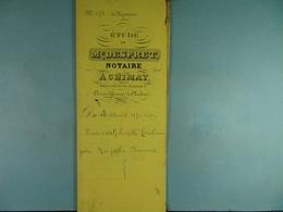 Acte Notarié 1876 Vente à Coulonval De Baileux Par Bernard D'Aublain /09/ - Manuscrits