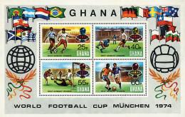 Ref. 79330 * NEW *  - GHANA . 1974. FOOTBALL WORLD CUP. GERMANY-74. COPA DEL MUNDO DE FUTBOL. ALEMANIA-74 - Ghana (1957-...)