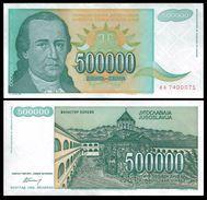 Yugoslavia 500.000 DINARA 1993 P 131 UNC - Yugoslavia