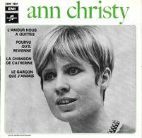 """Ann Christy  """"  L'amour Nous A Quittés  """" - Vinyl Records"""