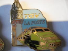 TGV  JAUNE LA POSTE Pin's BALLARD - TGV