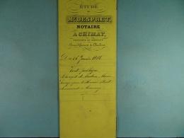 Acte Notarié 1885 Vente Publique à La Requête De Mde Lange épse Strat De Tournay à Coulonval De Baileux /010/ - Manuscrits