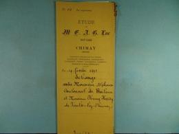 Acte Notarié 1895 Echange Entre Coulonval De Baileux Et Hardy De Vaulx /011/ - Manuscrits