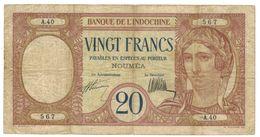 New Caledonia, Noumea, 20 Fr , P-37a. F. Rare. - Billetes