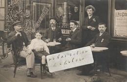 Café à Localiser - Une Bonne Bière ? Pour Se Rafraichir  - Affiche Paris-Cinéma ( Carte-photo ) - A Identifier