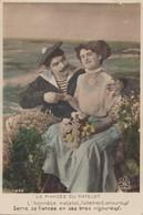 CPA Couple Amoureux, La Fiancée Du Matelot, Marin, Militaria, Déclaration Amour, N°402 - Couples