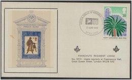 Parachute Regiment Lodge No 9315 Army Military Freemasonry Masonic Cover Great Britain - Franc-Maçonnerie