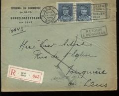 Lettre Recommandée Vers France  Port De 3F50 Soit 2x1F75   Ø Flamme Pour Les Animaux - 1931-1934 Képi