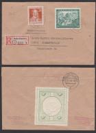 Vignette Roman Stoebe R-Doppel-Brief Berlin-Köpenick 1, Leipziger Messe 1948 Mit Heinrich Von Stephan Portogenau - Zona AAS