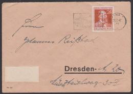 """Heinrich Von Stephan Portogenau Brief Mit MWSt. """"Achtet Auf Den Kartoffelkäfer"""" JENA SBZ - Amerikaanse, Britse-en Russische Zone"""