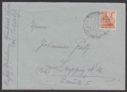 Auerbach Erzgebirge Portogenau Brief Mit SoSt. Strumpf-Auerbach, Strümpfe, 1947 - American,British And Russian Zone