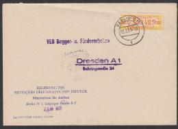 Berlin O17 , ZKD-Nr. 150, DDR B17L, Regierung Der DDR Ministerium Für Aufbau Nach Dresden Germany East - Oficial