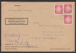 Germany East, Pössneck Dienstpostbrief Mit ZU, 30 Pf Verwaltungspost B (I),  DDR A11(3) 1957 - Service