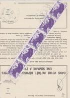 FRANCE 1989 ORDRE DE REEXPEDITION TEMPORAIRE  DU COURRIER DE WITTELSHEIM  LIBERTE DE GANDON - 1982-90 Liberté (Gandon)