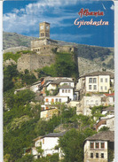 Gjirokastër, The Clock Tower,patrimoine Mondial De L'UNESCO.Postcard Addressed To ANDORRA,with Arrival Postmark. - Albania