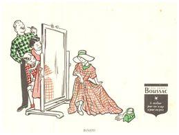 T B/Buvard Tissu Boussac (Format 16 X 12) (N= 1) - Textile & Clothing