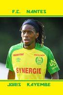 CARTE DE JOUEUR DE . FC. NANTES*44* FRANCE JORIS KAYEMBE  SAISONS A NANTES  2017A 2018 #JN.FC.244 - Soccer