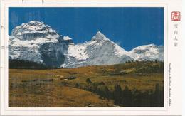 Les Montagnes Du Tibet, Village Tibetain Sur Les Hauts Plateaux,  Carte Postale Adressée Andorra - China